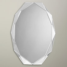 Buy John Lewis Diamond Edge Glass Oval Mirror, 60 x 90cm Online at johnlewis.com