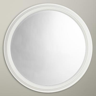 Croft Collection Circle Wood Mirror, Dia.75cm, White