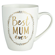 Buy John Lewis 'Best Mum Ever' Wreath Mug Online at johnlewis.com