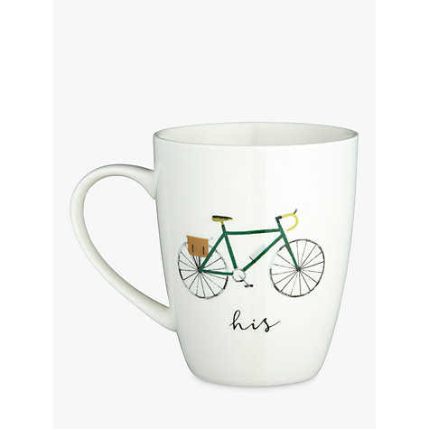 Buy John Lewis 'His' Bike Mug Online at johnlewis.com