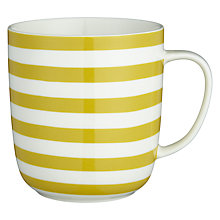 Buy John Lewis Coastal Sandy Stripes Mug, Yellow Online at johnlewis.com