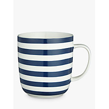 Buy John Lewis Coastal Stripes Mug, Blue Online at johnlewis.com