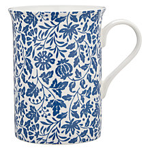 Buy John Lewis Country Archive Floral Mug, Blue / White Online at johnlewis.com
