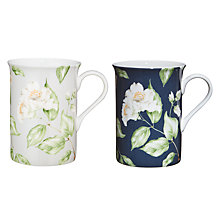 Buy John Lewis Country Archive Flower Mug, Navy / Grey Online at johnlewis.com