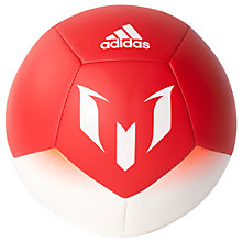 Buy Adidas Messi Q1 Mini Football, Size 1, White/Red Online at johnlewis.com