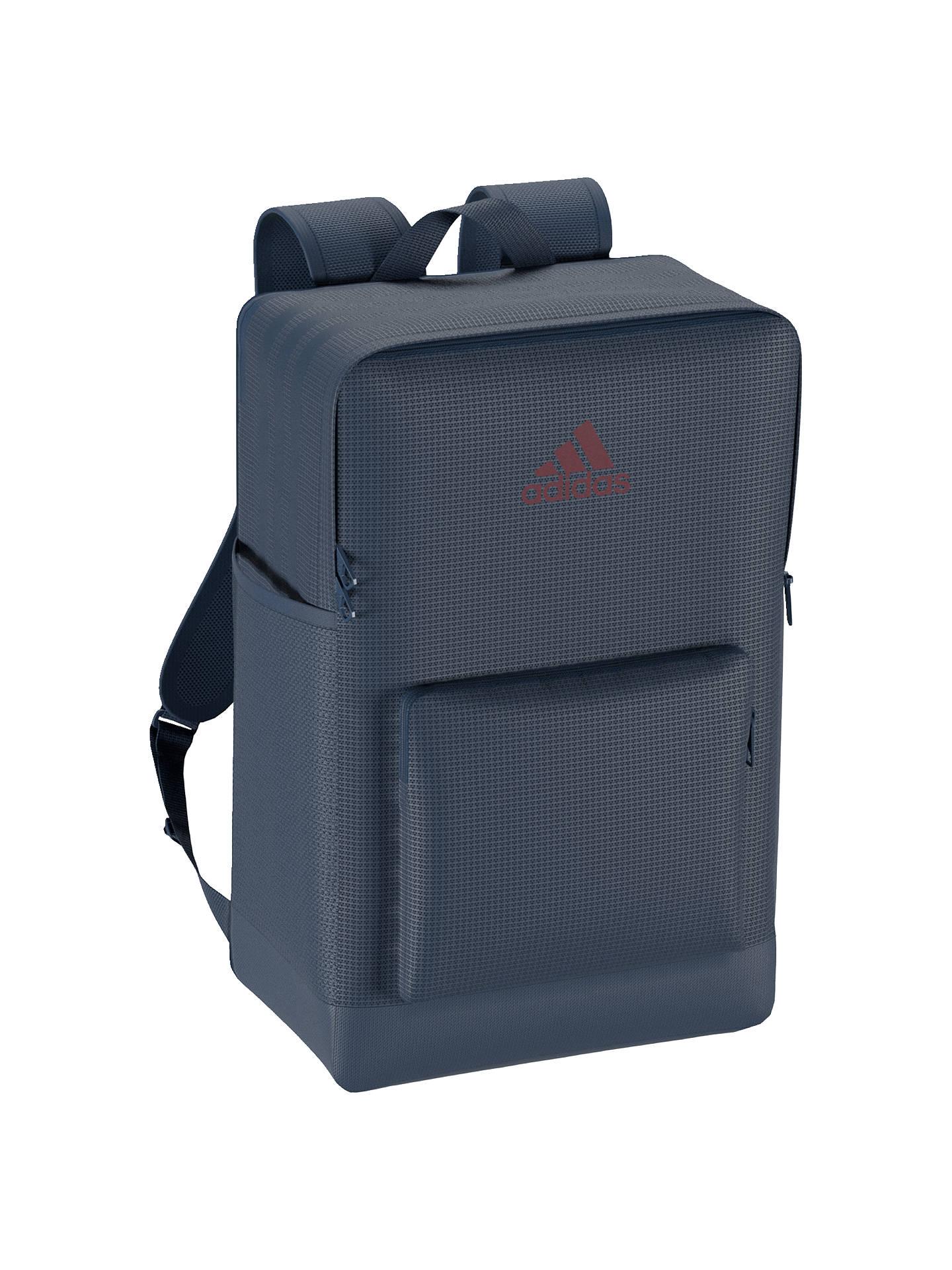 Buyadidas 3-Stripes Performance Backpack Bag, Blue Online at johnlewis.com 2b34429fd7