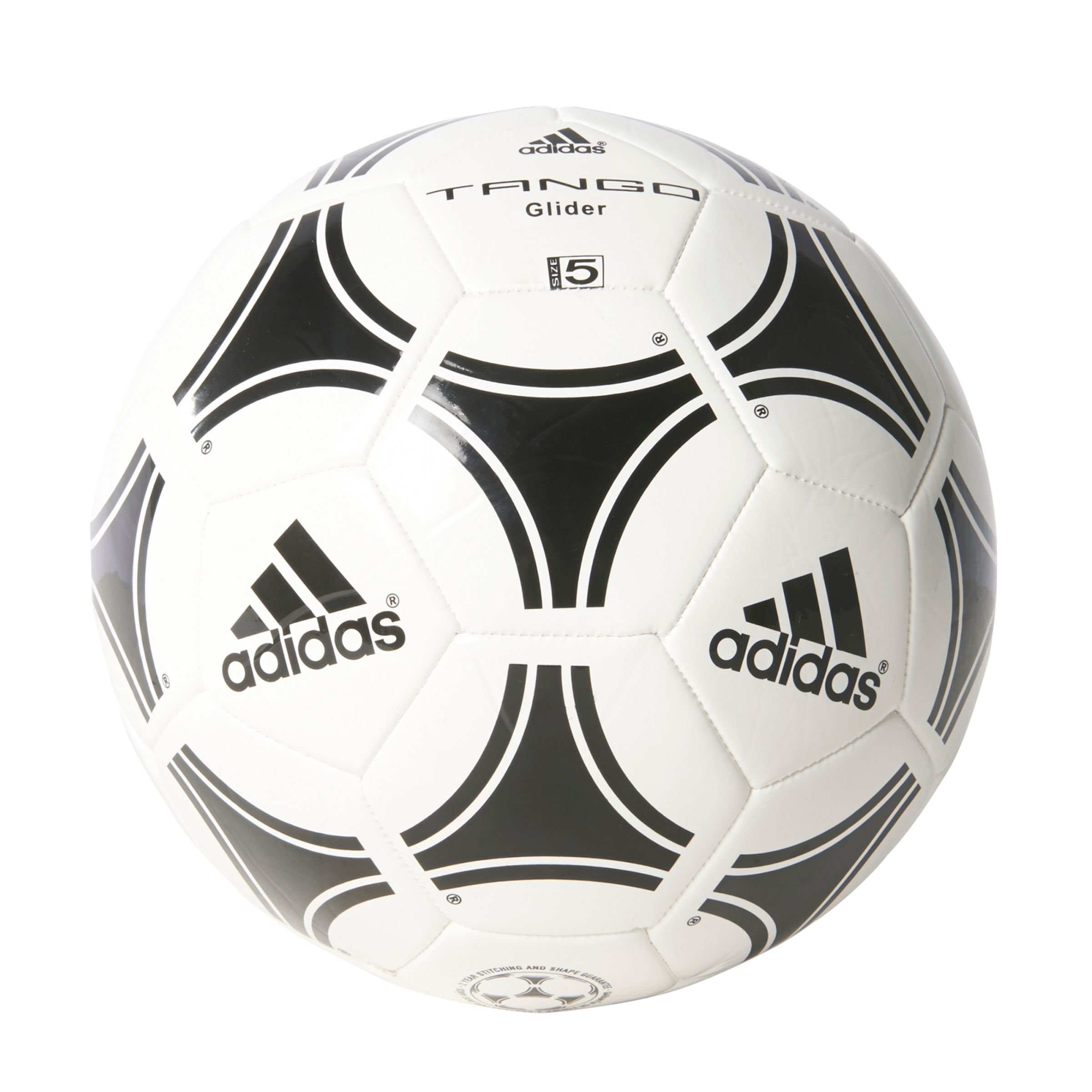 Adidas adidas Tango Glider Football, Size 5, White/Black