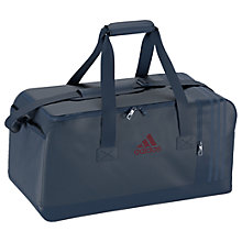 Buy Adidas 3-Stripes Performance Medium Sports Bag, Blue Online at johnlewis.com