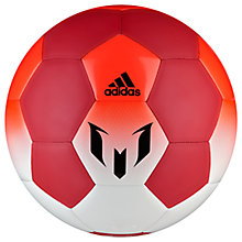 Buy Adidas Messi Q1 Football, Size 5, White/Red Online at johnlewis.com