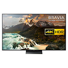 "Buy Sony Bravia 75ZD9BU LED Premium HDR 4K Ultra HD 3D Android TV, 75"", With Youview/Freeview HD, 4K HDR Processor X1 Extreme & Black Slate Design Online at johnlewis.com"