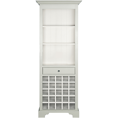 Neptune Chichester Tall Wood Wine Rack Cabinet, Shingle