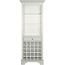 Buy Neptune Chichester Tall Wood Wine Rack Cabinet, Shingle Online at johnlewis.com