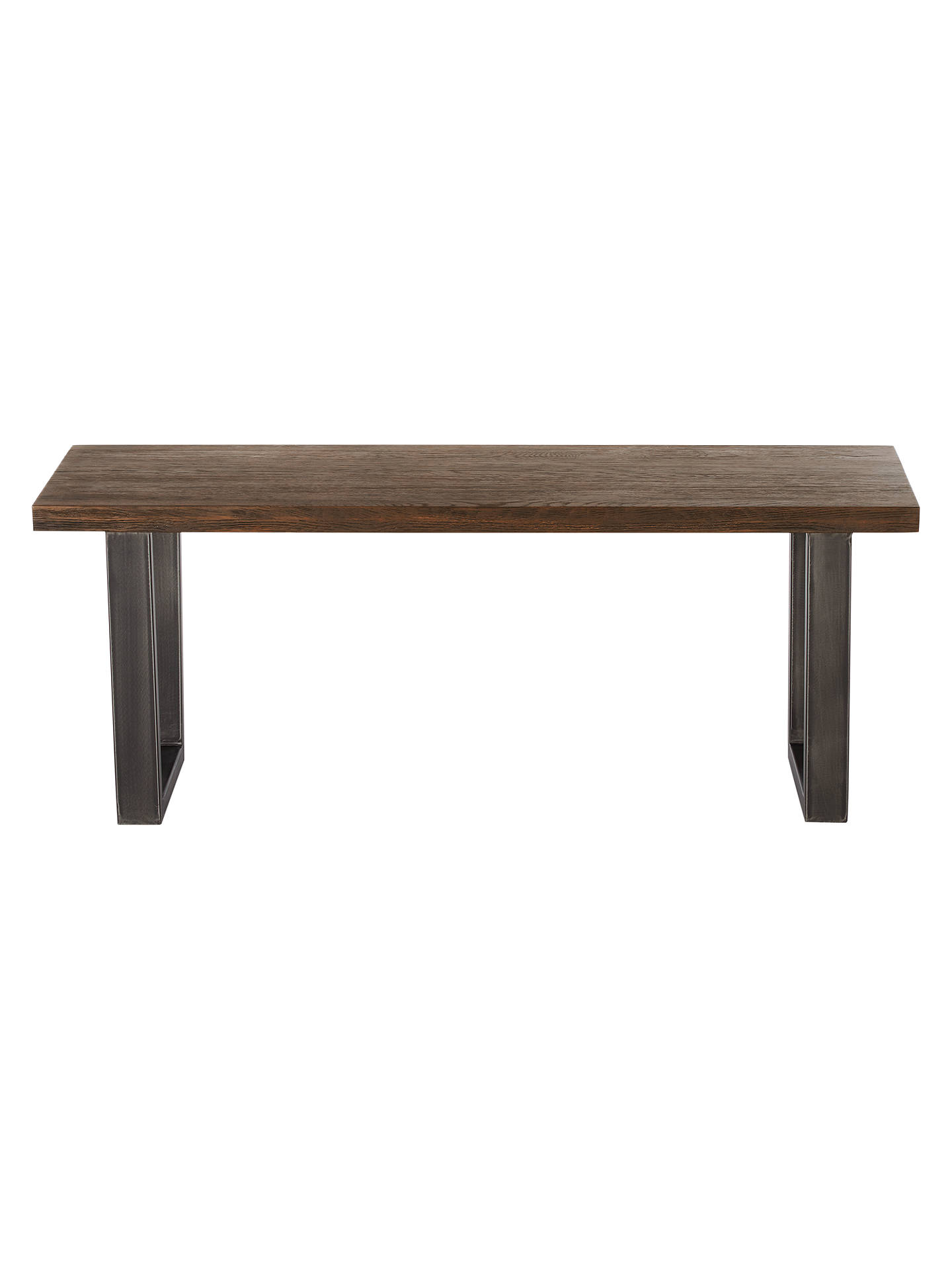 Groovy John Lewis Partners Calia 2 Seater Dining Bench Dark Andrewgaddart Wooden Chair Designs For Living Room Andrewgaddartcom