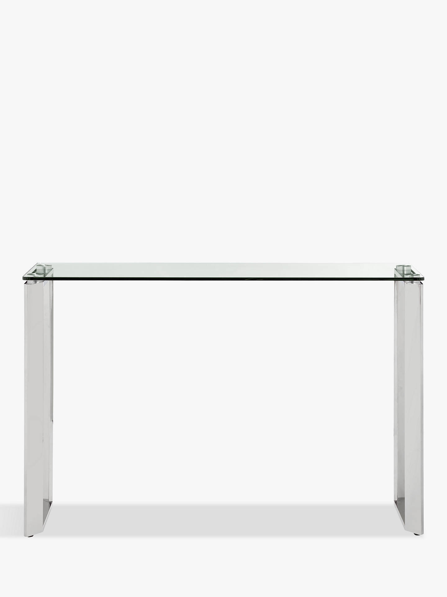 Buy John Lewis & Partners Tropez Console Table, Clear/Steel Online at johnlewis.com
