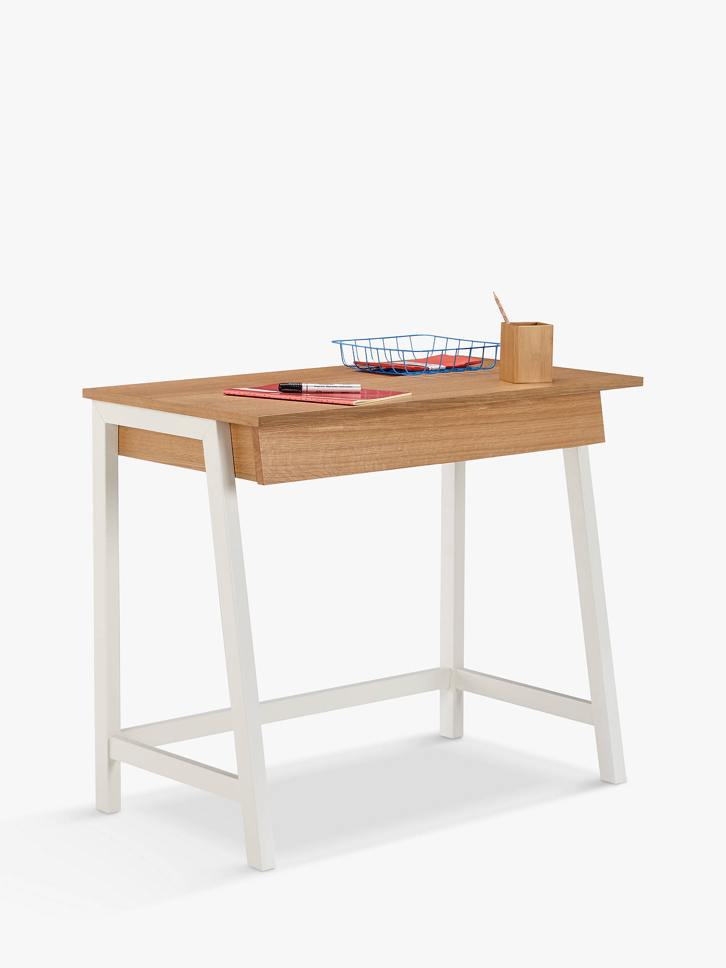 BuyHouse by John Lewis Cuthbert Desk, White Online at johnlewis.com