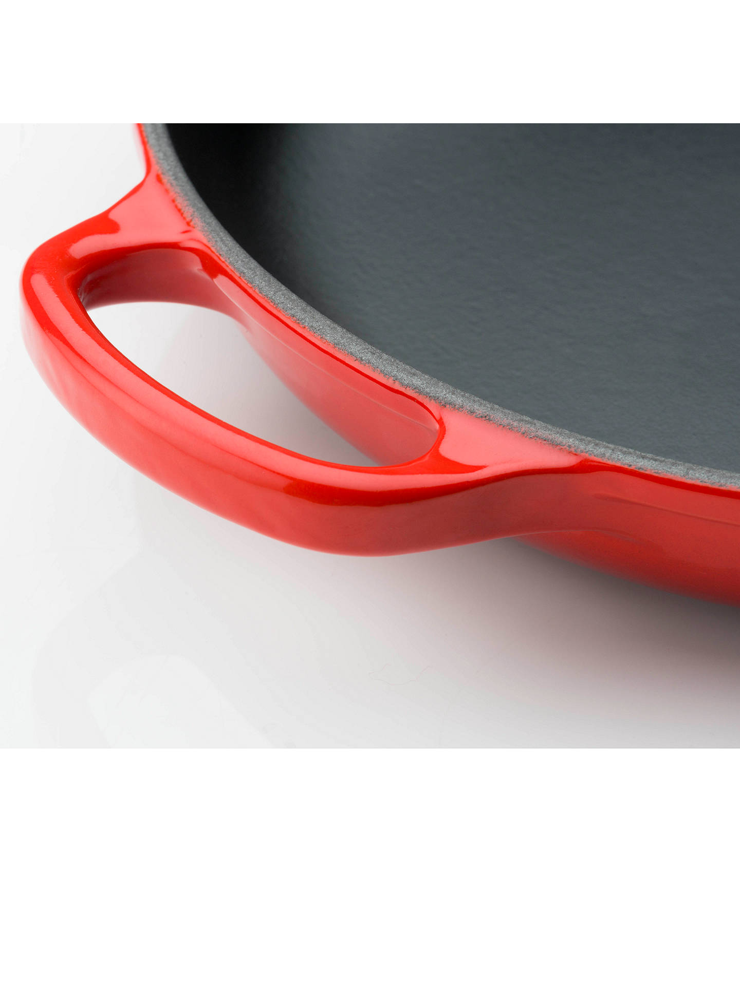 Buy Le Creuset Cast Iron 23cm Signature Skillet, Cerise Online at johnlewis.com