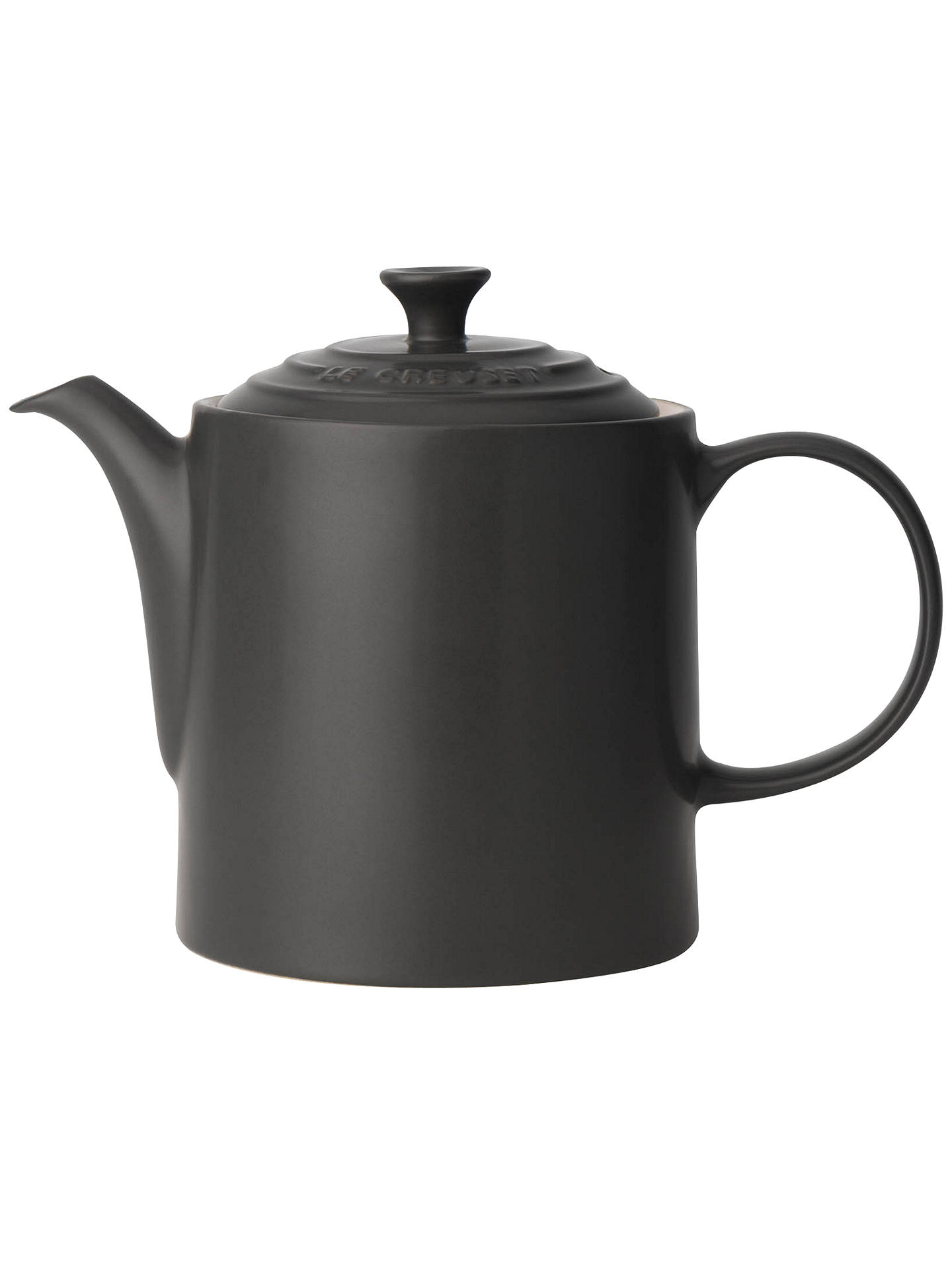 Buy Le Creuset Stoneware Grand Teapot, 1.3L, Satin Black Online at johnlewis.com