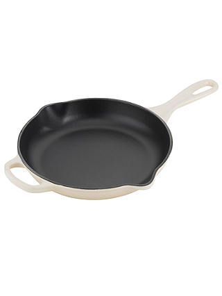 Buy Le Creuset Cast Iron 23cm Signature Skillet, Almond Online at johnlewis.com