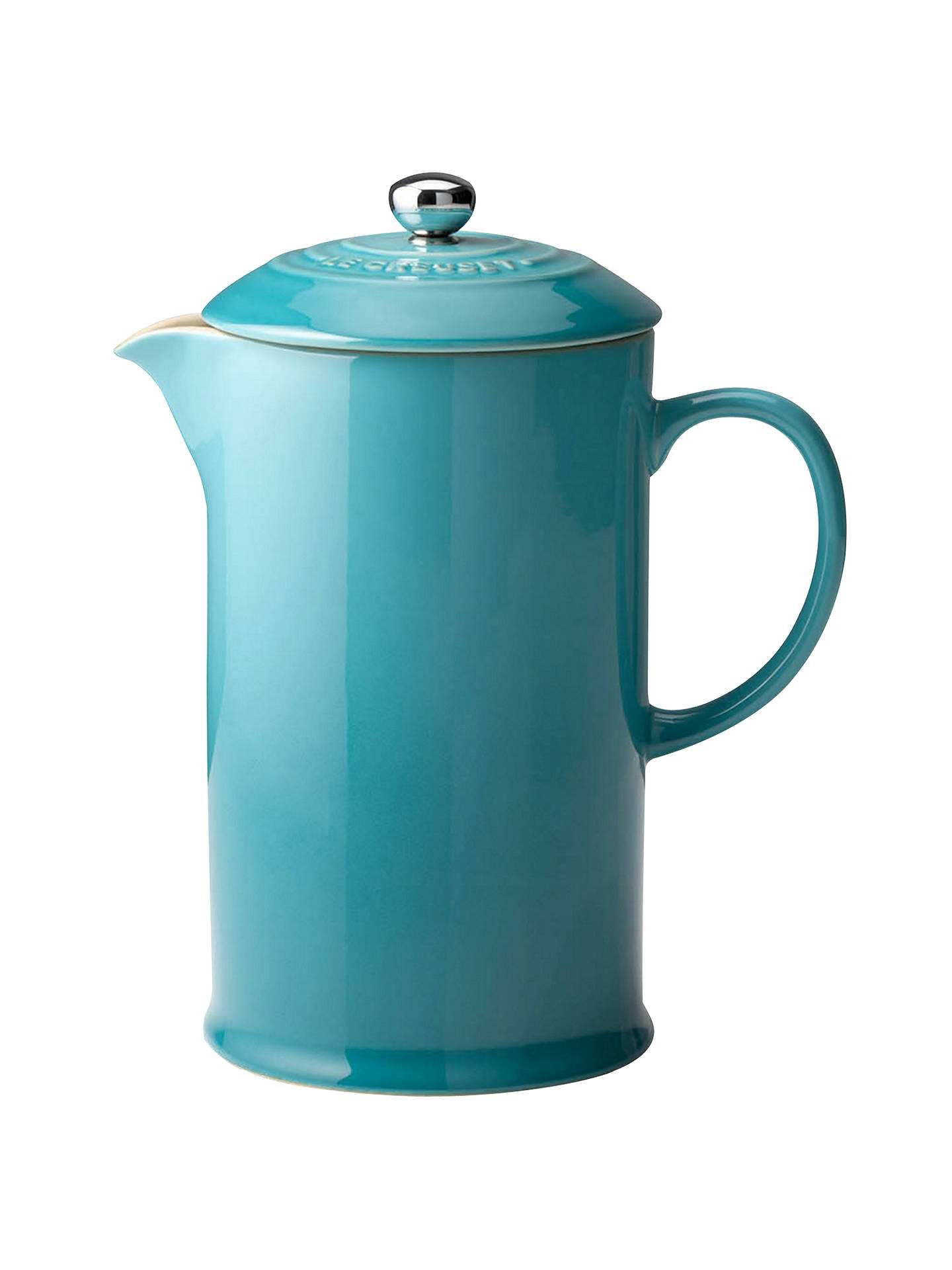 Buy Le Creuset Stoneware Coffee Press, 1L, Teal Online at johnlewis.com