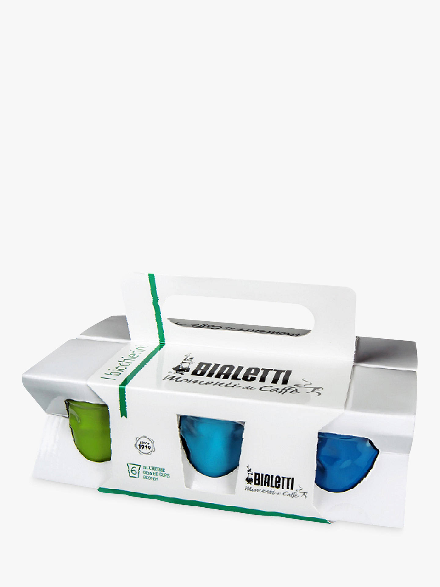 Buy Bialetti Espresso Cups, Set of 6, Multi, 50ml Online at johnlewis.com