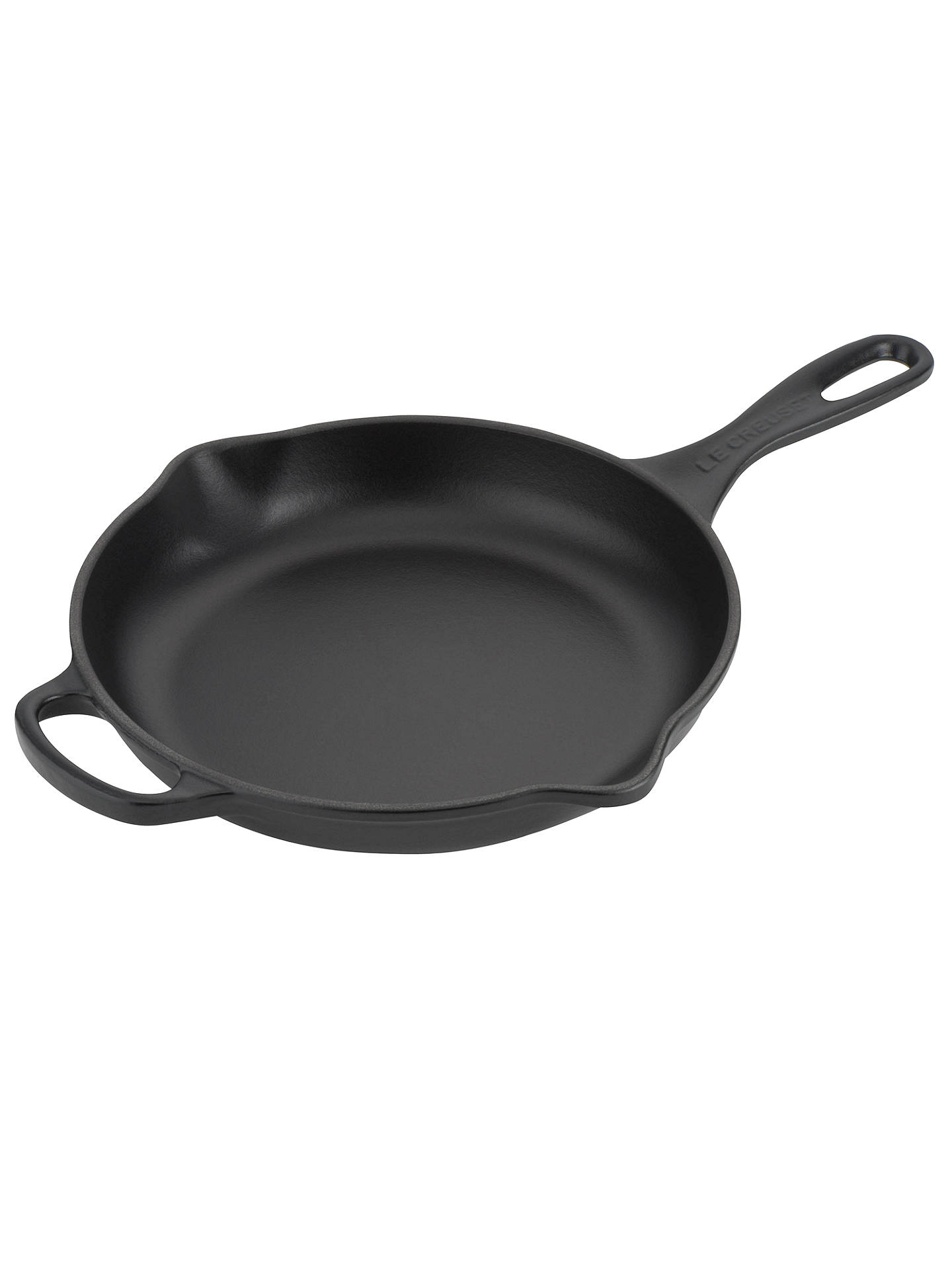 BuyLe Creuset Cast Iron 23cm Signature Skillet, Satin Black Online at johnlewis.com