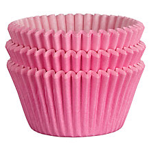 Buy John Lewis Cupcake Cases, Pack of 75, Pink Online at johnlewis.com