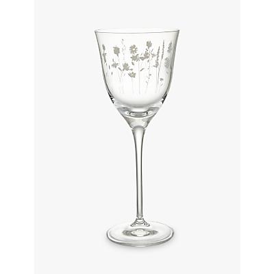 John Lewis Leckford Floral White Wine Glass