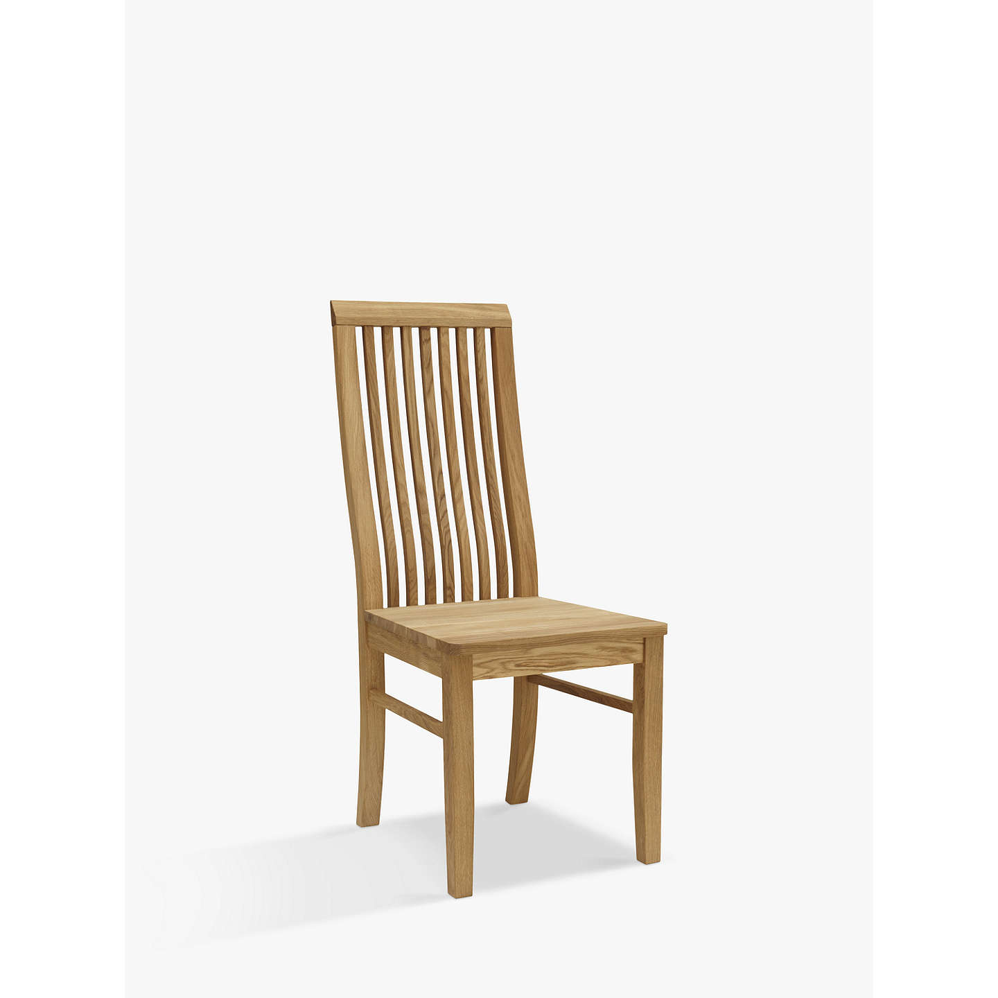 BuyJohn Lewis Henry Wooden Seat Dining Chair, Oak Online at johnlewis.com
