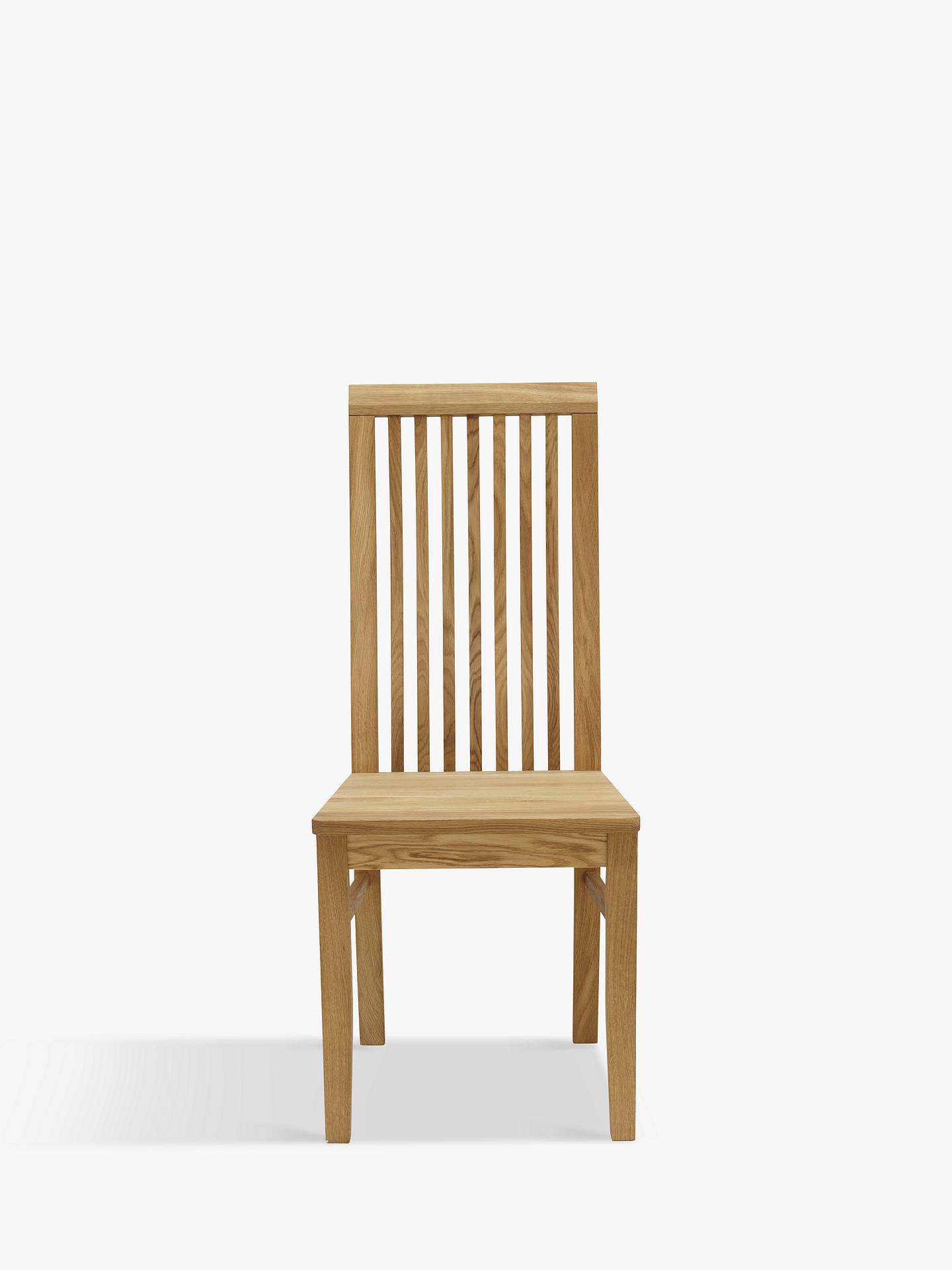 BuyJohn Lewis & Partners Henry Wooden Seat Dining Chair, Oak Online at johnlewis.com