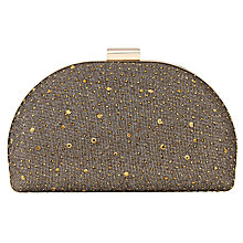 Buy Phase Eight Ivy Sparkle Clutch Bag, Bronze Online at johnlewis.com