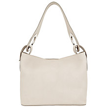Buy Kin by John Lewis Eri Leather Small Shoulder Bag, Off White Online at johnlewis.com