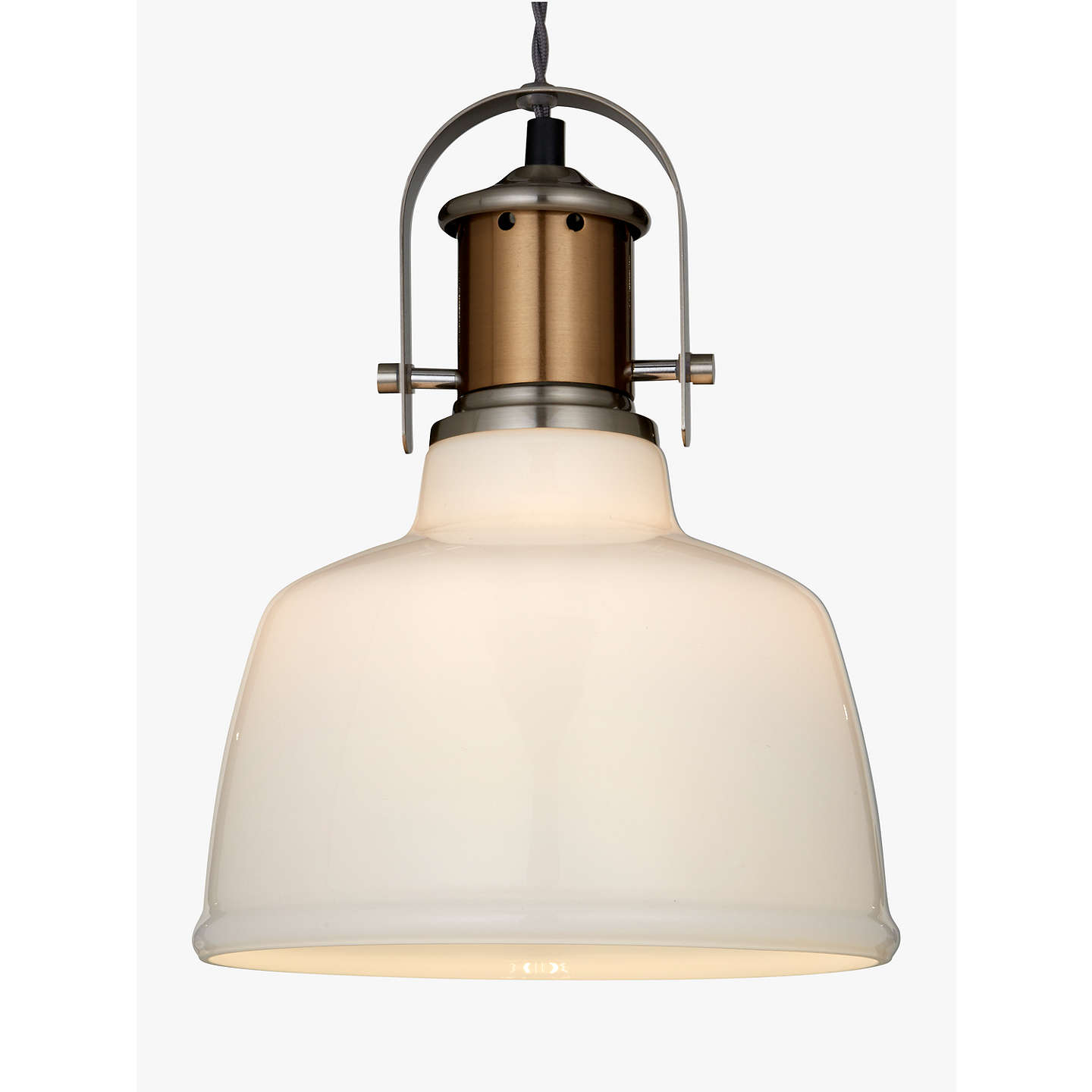 Croft collection lloyd glass white pendant ceiling light satin buycroft collection lloyd glass white pendant ceiling light satin nickel online at johnlewis mozeypictures