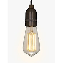 Buy John Lewis Bulb Holder Pendant Cord, Pewter Online at johnlewis.com