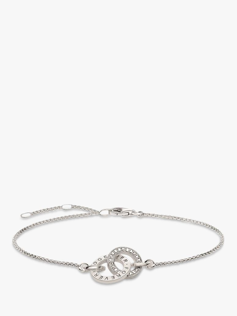 Thomas Sabo THOMAS SABO Glam & Soul Together Forever Ring Bracelet, Silver