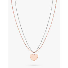 Buy Thomas Sabo Love Bridge Heart Pendant Necklace Online at johnlewis.com