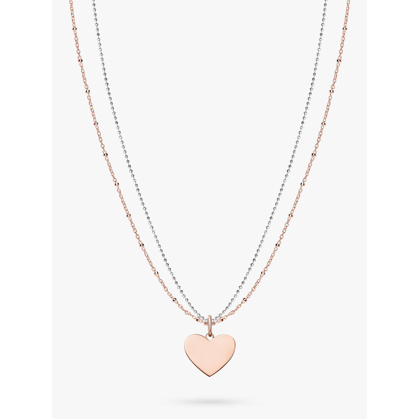 Thomas sabo love bridge heart pendant necklace at john lewis buythomas sabo love bridge heart pendant necklace rose goldsilver online at johnlewis aloadofball