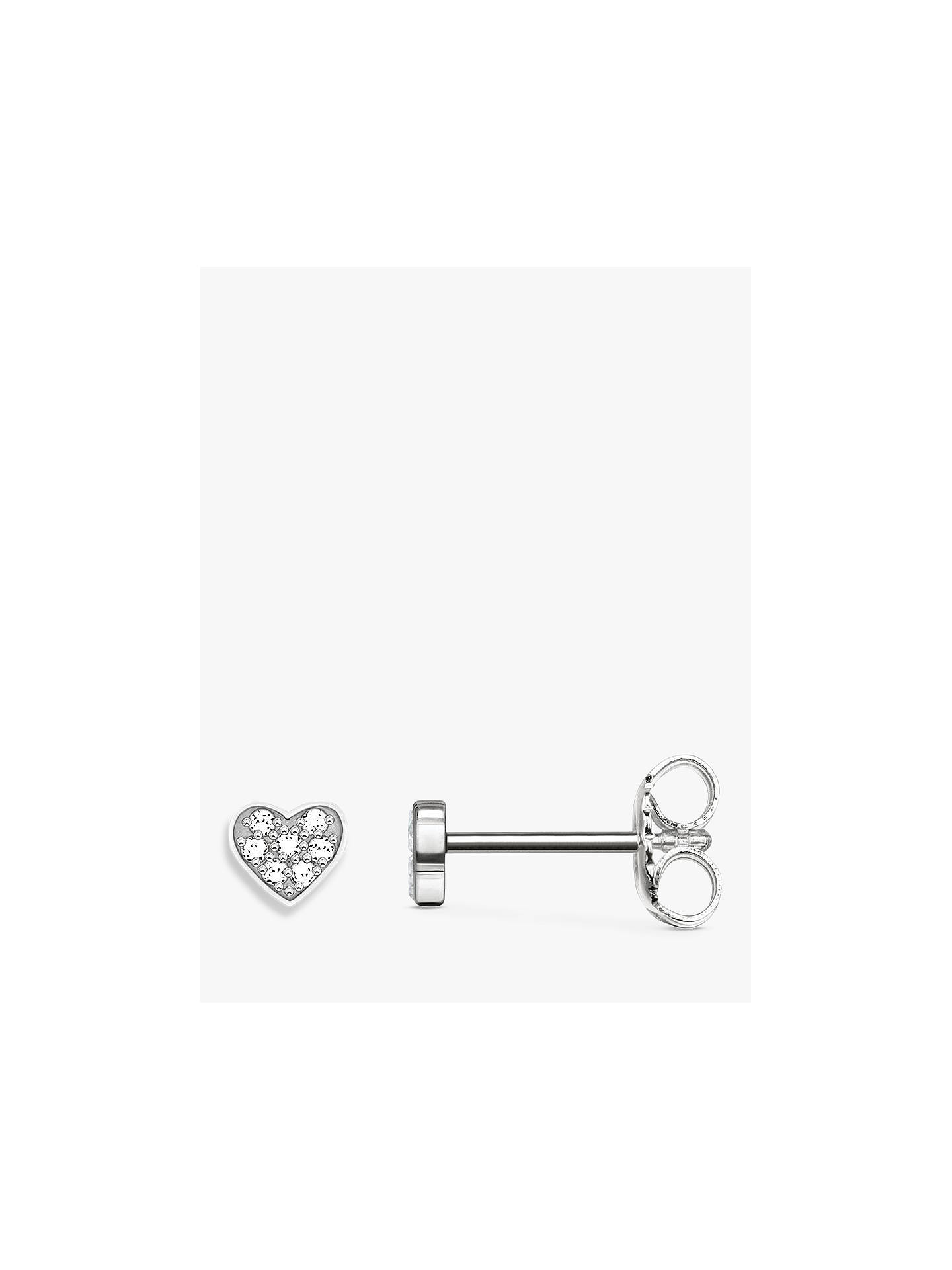 THOMAS SABO Glam & Soul Diamond Pavé Heart Stud Earrings Silver at