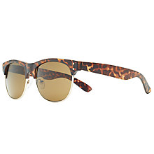 Buy John Lewis Clubmaster Sunglasses, Tortoise/Brown Online at johnlewis.com