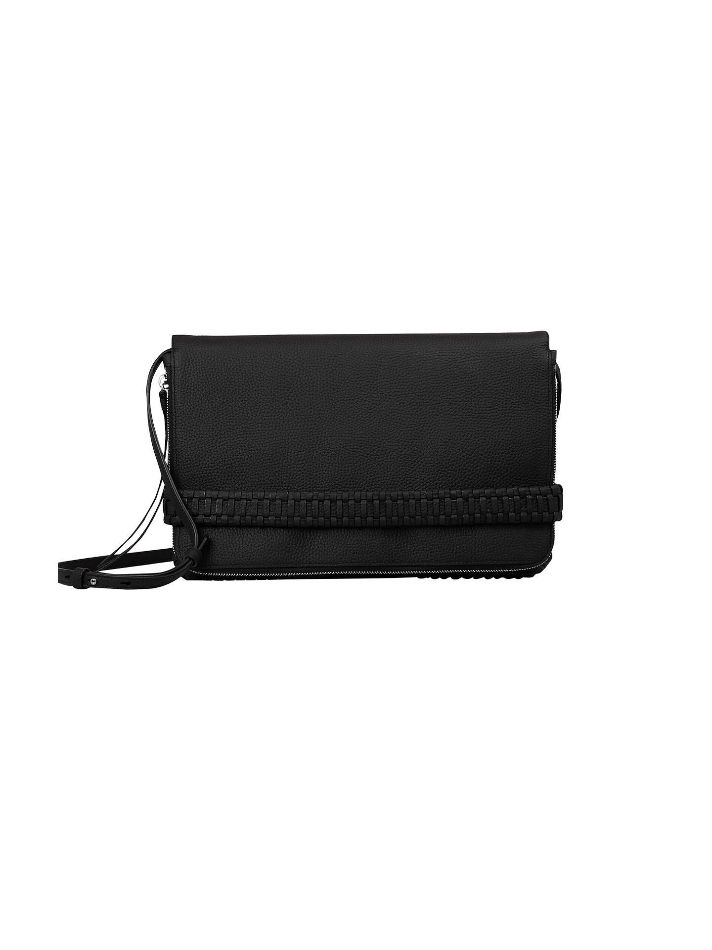71ae782fd2 Buy AllSaints Club Large Clutch Bag, Black Online at johnlewis.com ...