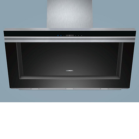Buy Siemens LC91KB672B Chimney Cooker Hood, Black Glass and Stainless Steel Online at johnlewis.com