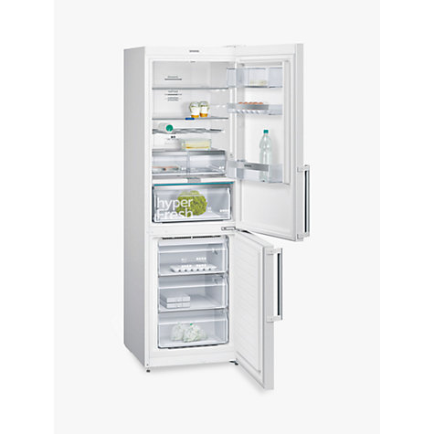 Buy Siemens KG39NLB35 Freestanding Fridge Freezer with Home Connect, A++ Energy Rating, 60cm Wide, Black Glass Online at johnlewis.com