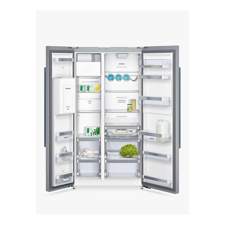 ... BuySiemens KA92DAI20G American Style Fridge Freezer, Stainless Steel  Online At Johnlewis.com ...