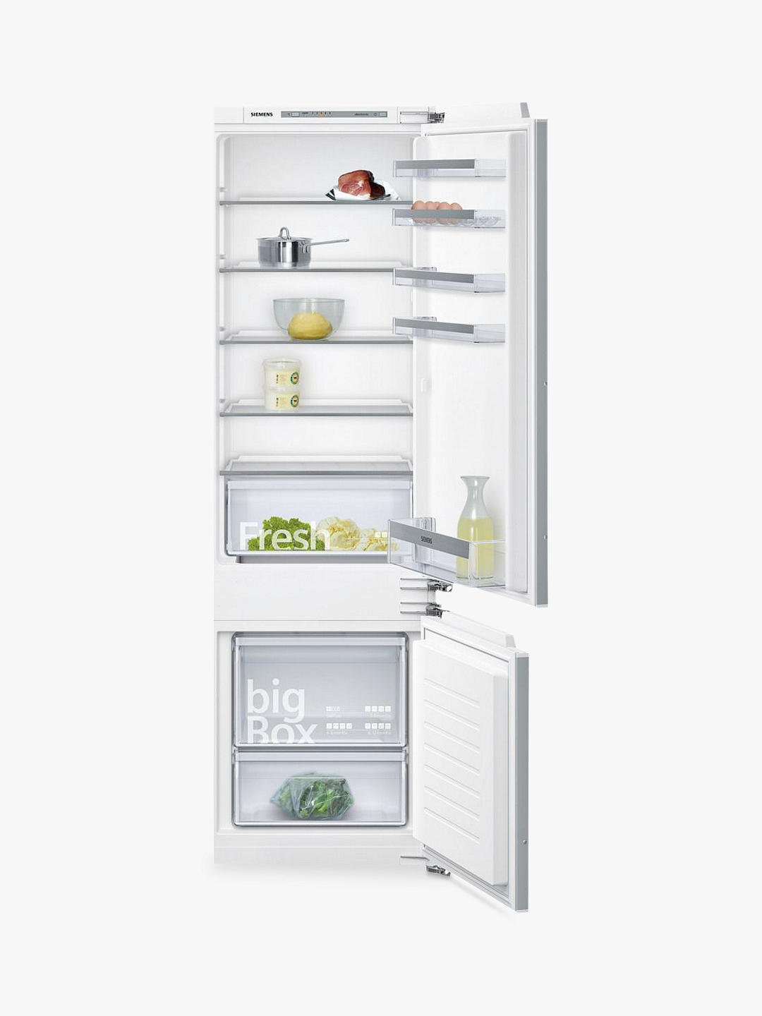 Buy Siemens KI87VVF30G Integrated 70/30 Fridge Freezer, Fixed Door Hinge, A++ Energy Rating, White Online at johnlewis.com