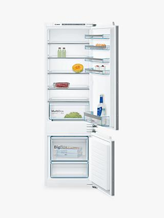 Bosch KIV87VF30G Integrated Fridge Freezer, A++ Energy Rating, 56cm Wide, White