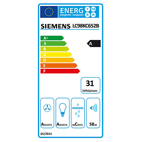 Buy Siemens LC98KC652B Angled Chimney Cooker Hood, Black/Silver Online at johnlewis.com