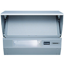 Buy Siemens LE62031GB Integrated Cooker Hood, Silver Online at johnlewis.com