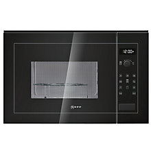 Buy Neff H12GE60S0G Built-In Microwave with Grill, Black Online at johnlewis.com