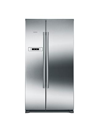 Siemens KA90NVI20G American Style Fridge Freezer, A+ Energy Rating, 90cm Wide, Stainless Steel