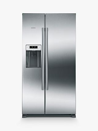 Siemens KA90IVI20G American Style Fridge Freezer, A+ Energy Rating, Stainless Steel
