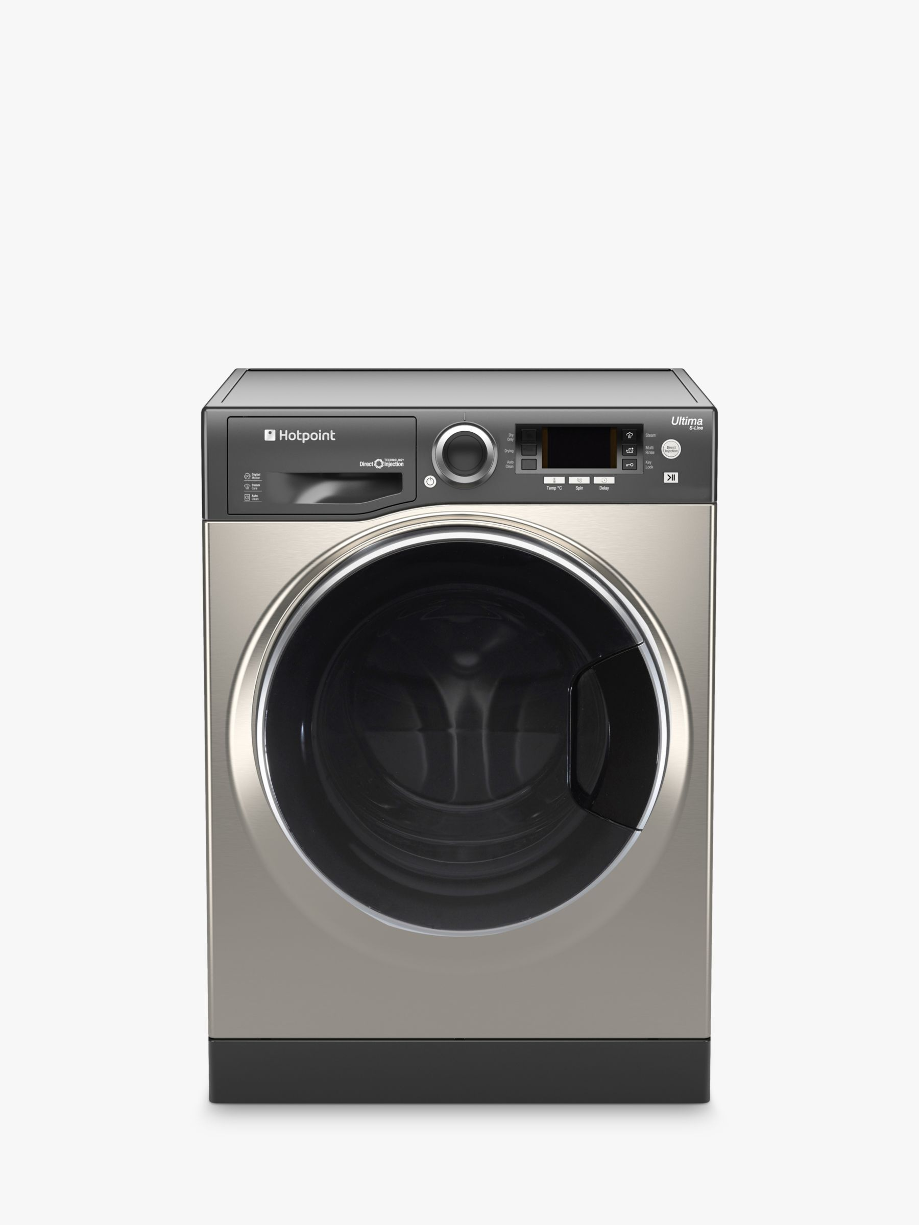 Hotpoint Hotpoint RD966JGDUK Washer Dryer, 9kg Wash/ 6kg Dry Load, A Energy Rating, 1600rpm Spin, Graphite